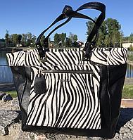 Женская сумка Furla черная c белым. Фото в живую. Люксовая реплика