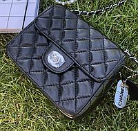 Женская сумка Chanel Black Half Flap Mini bag. Фото в живую. Люксовая реплика