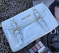 Женская сумка Miu Miu белая. Фото в живую. Люксовая реплика