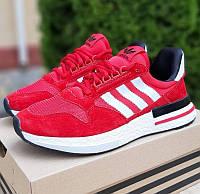 Мужские кроссовки Adidas ZX 500 красные 41-46р. Фото в живую. Реплика