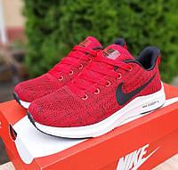 Женские летние кроссовки Nike ZOOM X красные. Живое фото. Реплика