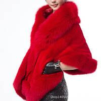 Женская меховая накидка-полушубок. Модель 61724, фото 6