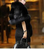 Женская меховая накидка-полушубок. Модель 61724, фото 10