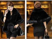 Женская меховая накидка-полушубок. Модель 61724, фото 8