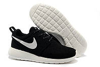 Кроссовки женские беговые Nike Roshe Run (в стиле найк роше ран) черные