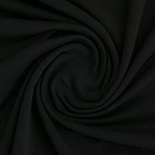 Трикотажное полотно Стрейч кулир, 40/1 Пенье, цвет - черный, в наличии, купить в Украине