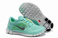 Кроссовки женские беговые Nike Free Run Plus 3 (в стиле найк фри ран) голубые