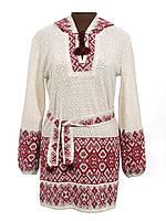 Вязаная женская вышиванка туника