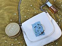 Женская сумка Gucci белая. Фото в живую. Люксовая реплика, фото 1