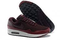 Кроссовки мужские Nike Air Max 87 EM (в стиле найк аир макс 87)бордовые