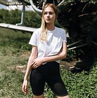 Женский летний комплект костюм футболка + шорты велосипедки комплект Турция. Живое фото