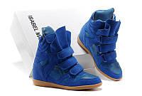 Кроссовки женские Isabel Marant (в стиле сникерсы) синие