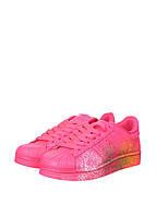 Кроссовки женские Adidas Superstar Supercolor PW Paint Art Pink (в стиле адидас) розовые, фото 1