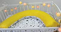 Подушка для беременних , подушка для вагітних ,подушка для кормления 3 в 1 в жовтих тонах 1838