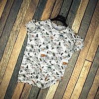 Мужская футболка летняя белая с принтом бабочки Турция. Живое фото. Топ качество