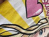 """Детское пляжное полотенце - пончо """"Барби с сердечком"""" Disney, фото 2"""