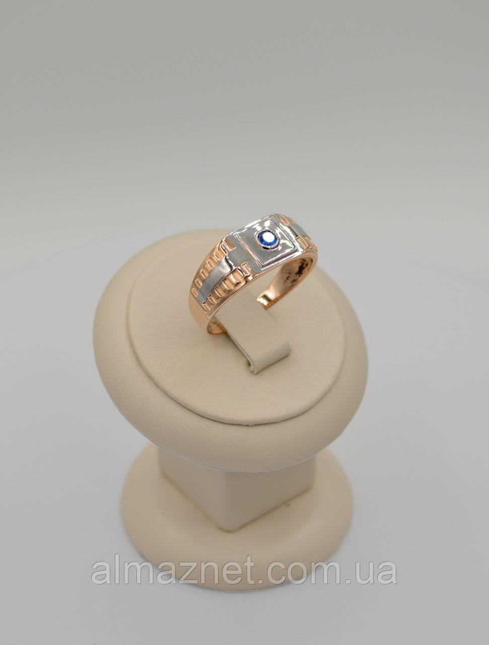 Золотое мужское кольцо Ролекс с одним камнем