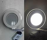 Врезной круглый светильник DownLight 6 Вт холодный белый круг (6500К) Glass Rim, фото 2