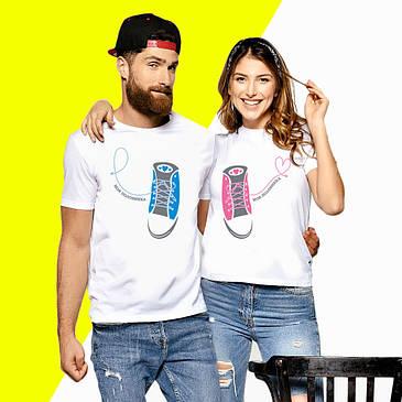 Парные футболки с принтом Кеды Push IT XS, Белый
