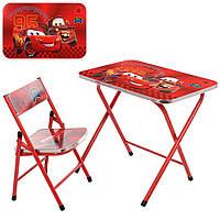 Детский складной стол со стульчиком, A19-MQ, красный Тачки