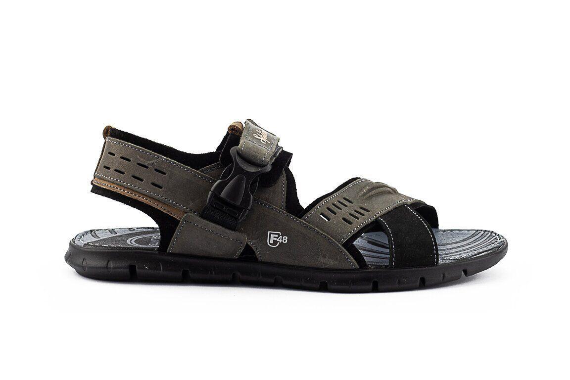 Мужские сандали нубуковые летние серые Splinter Summer c 0918