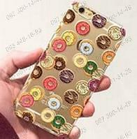 """Пластиковая задняя панель """" Пончики"""" Защитный чехол для Iphone 5/5S 6 Пластиковые чехлы для телефонов Панели"""