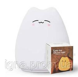 Ночной светильник Little Cat Silicone LED Light Multicolors, Design 03