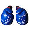 Боксерські рукавиці PowerPlay 3018 Сині 8 унцій, фото 4