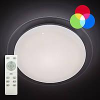 Потолочный светодиодный светильник с пультом ДУ LUMINARIA SATURN 25W RGB R330 SHINY 220V IP44