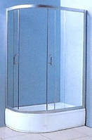 VICTORIA-SATIN душевая кабина 120*80*203 см, правая, стекло 4мм, в комплекте глубоким поддоном
