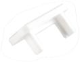 Заглушка для накладного LED профиля: Белая, Grass Hopper