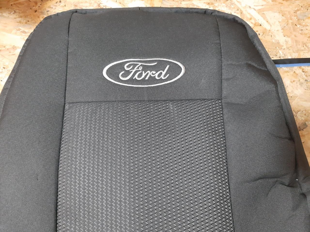 """Чехлы на Ford Fusion 2002-2012 / автомобильные чехлы """"Prestige"""" эконом"""