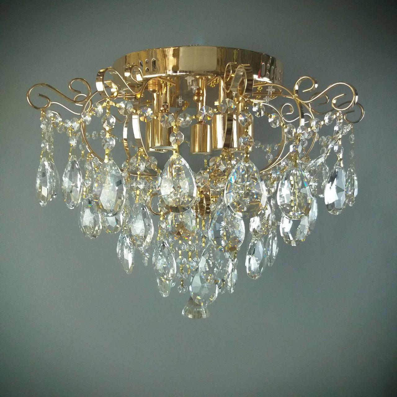 Люстра кришталева класична на 5 лампи 14-67075/5 LED FGD