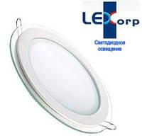 Светодиодный светильник Downlight 18Вт холодный белый круг (6500К) Glass Rim