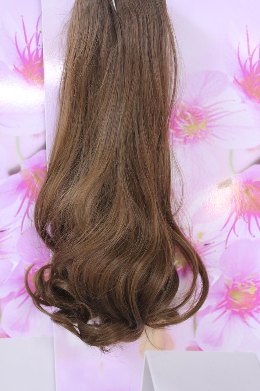 Волосы на заколках искусственные термоволокно волна русый