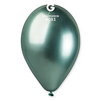 "Латексный круглый шар Gemar 13""/33 хром зеленый"