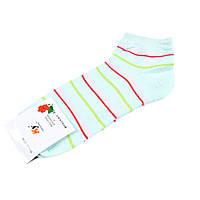 Шкарпетки м'ятні в рожево-червоно-салатовий смужку (1пара) (59806.019)