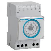 Таймер аналоговый, суточный, 16А, 1 переключаемый контакт, без резерва хода, 3м Hager (EH110)