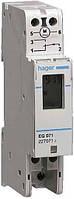 Таймер цифровой, недельный, 16А, 1 переключаемый контакт, запас хода 3 года, 1м Hager (EG071)