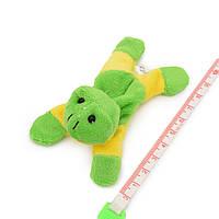 Магнит декоративный мягкая игрушка 9х5х3 см лягушка зелено-желтая (42203.001)