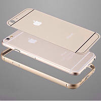 2 в 1 золотой чехол+металлический/алюминиевый бампер для Iphone 6 +/ 6 plus 5.5/6S+