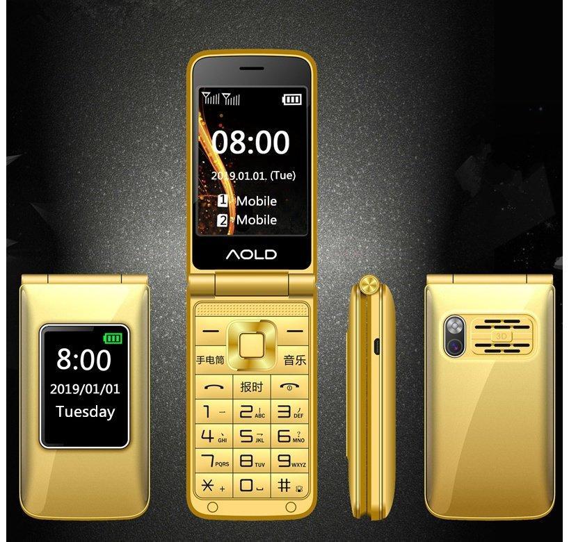 Раскладной  телефон H-mobile Dual Gold  двойным экраном   и  громкий звуком