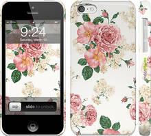 """Чехол на iPhone 5c цветочные обои v1 """"2293c-23"""""""