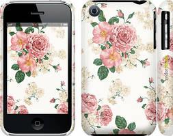 """Чехол на iPhone 3Gs цветочные обои v1 """"2293c-34"""""""