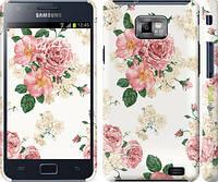 """Чехол на Samsung Galaxy S2 i9100 цветочные обои v1 """"2293c-14"""""""