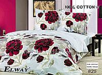Семейный комплект постельного белья ELWAY 825 сатин