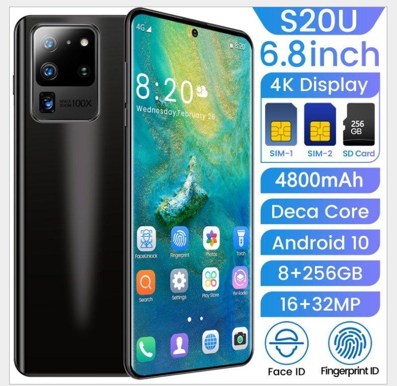 Смартфон S20 Ultra Black на Android 10 с  6,8-дюймовый  экраном.