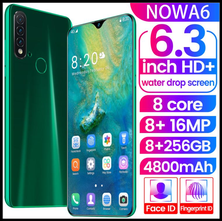 Смартфон Nowa A6 изумрудный Android смартфон 8 + 256G 6,26 большой экран 3 камеры