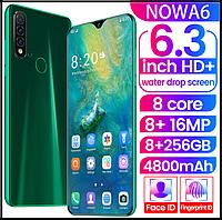 Смартфон Nowa A6 изумрудный Android смартфон 8 + 256G 6,26 большой экран 3 камеры, фото 1