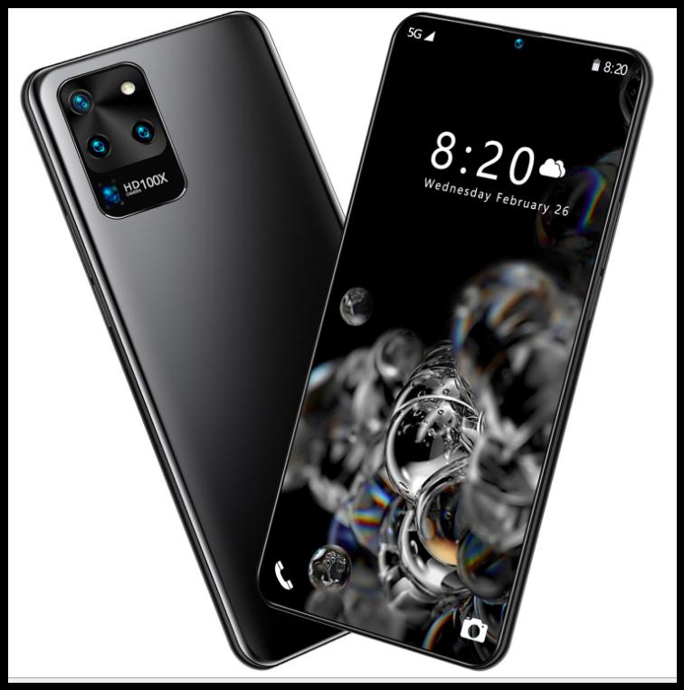 Смартфон S20U чёрный память 8 + 256G 7,5 огромный экран батарея 6800 черный